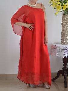 Long Dress Red Sifon
