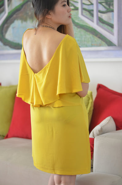 Mini Dress Yellow