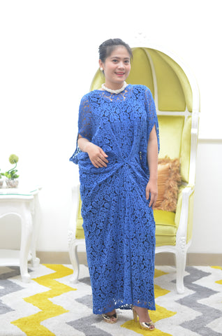 Blue Flowers Long Dress