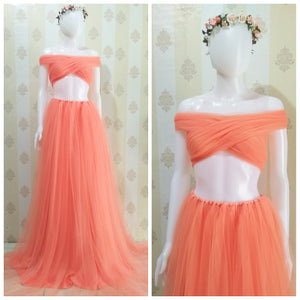 Luxurious Tule Fresh Orange