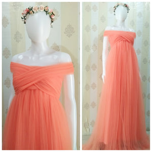 Luxurious Tule Fresh Orange Full