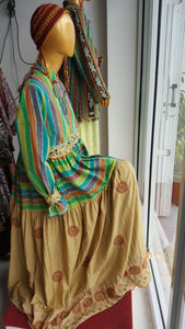 Dress Tenun Nusantara Two Color
