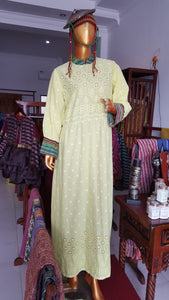 Dress Tenun Nusantara Cream