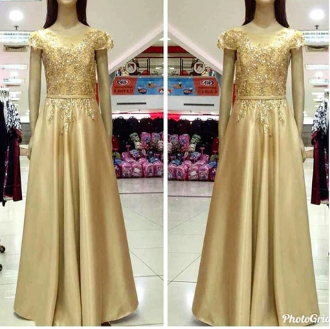 Gold Long Dress 2