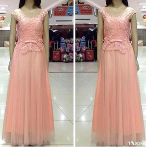 Peach Long Dress 3