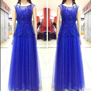 Royal Blue Long Dress 1