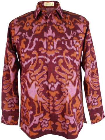Batik Tenun Maroon Medium