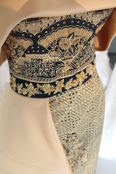 ANGELIA LUKMAN GOLD BATIK DRESS