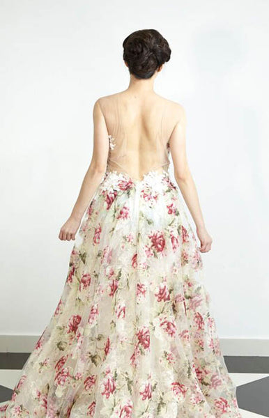 FLOWER GARDEN LACE GOWN