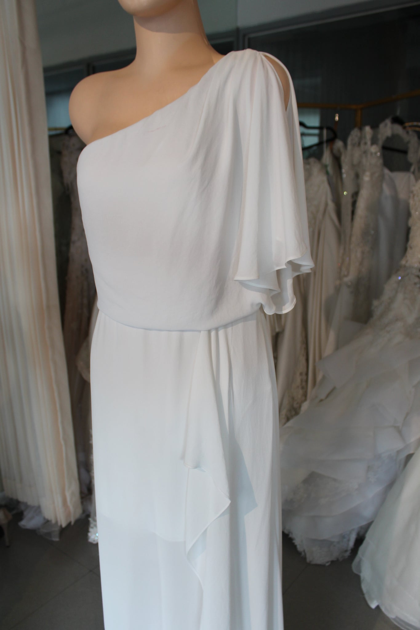 WHITE GRECIAN DRESS