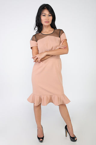 VALENTINO PEACH DRESS