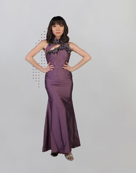 ADESSAGI KIERANA PURPLE FLOWER DRESS