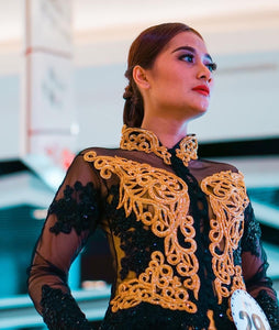 Kebaya Black Gold