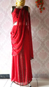 Saree Payet Sifon Red