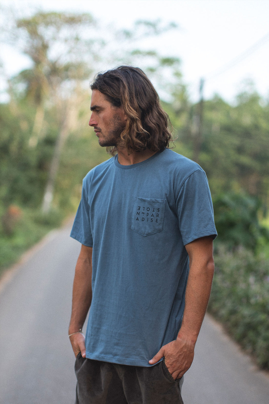 Ceylon Square T-Shirt - Stone Blue