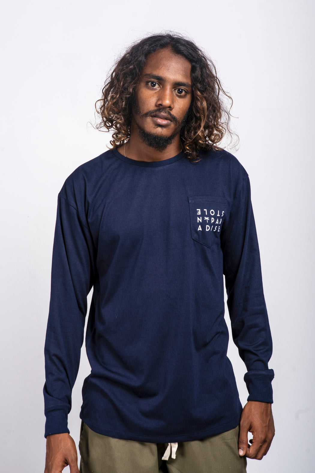 Ceylon Square L/S - Navy Blue