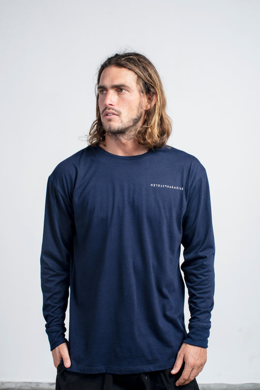 Ceylon Stripe L/S - Navy Blue