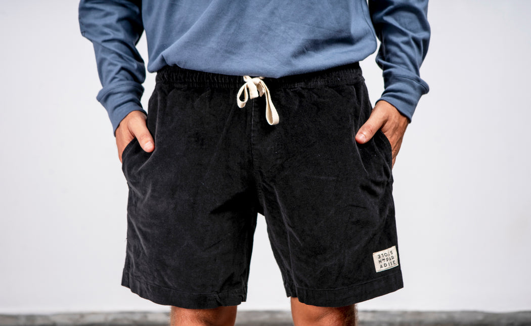 Koda Beach Short Corduroy - Black