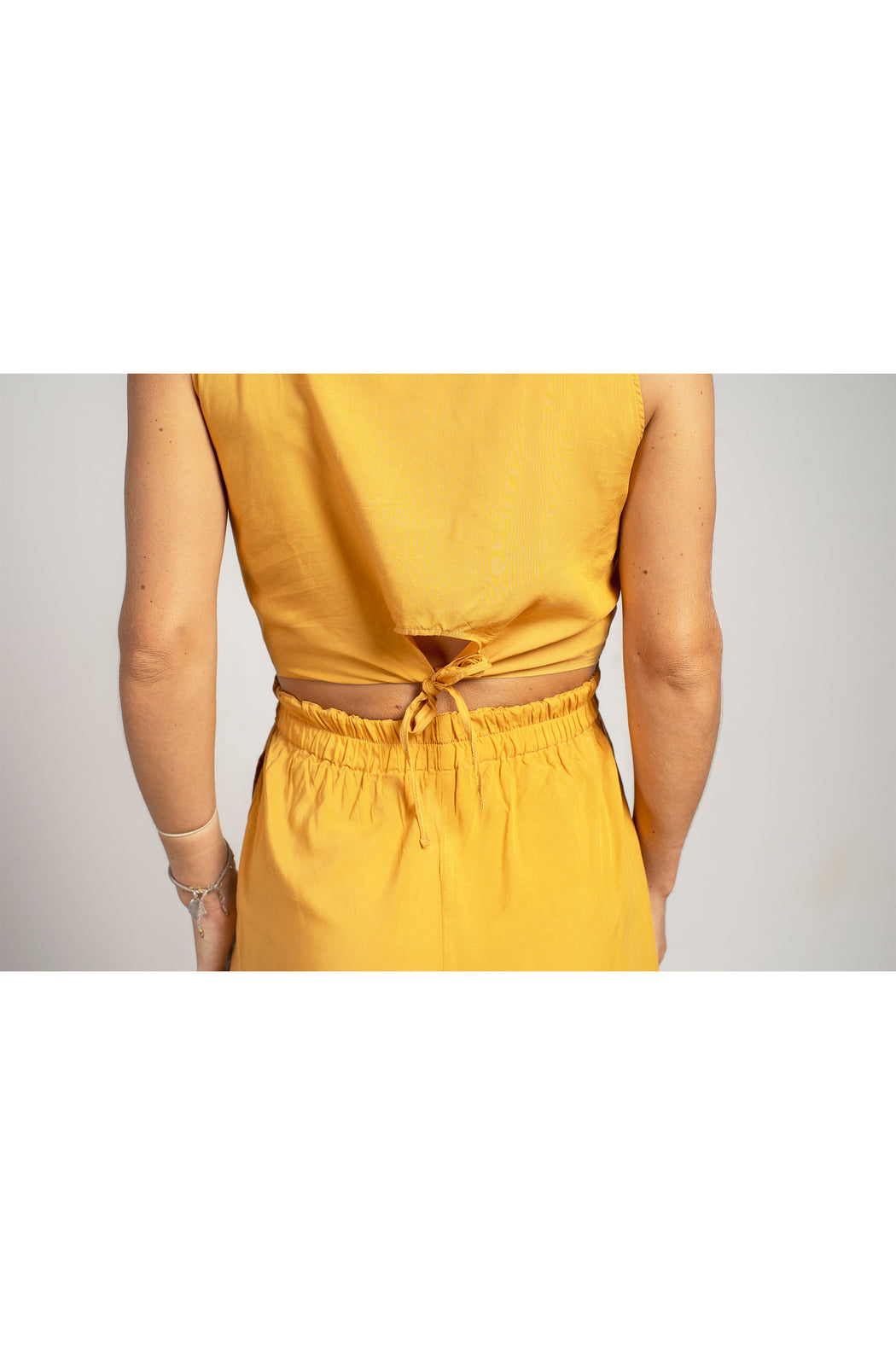 Twist Romper - Mustard Yellow