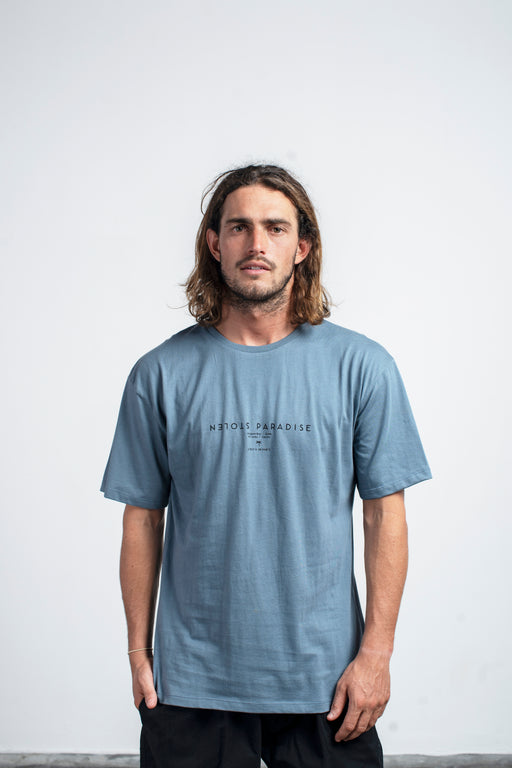 Palms and Places T-Shirt - Stone Blue