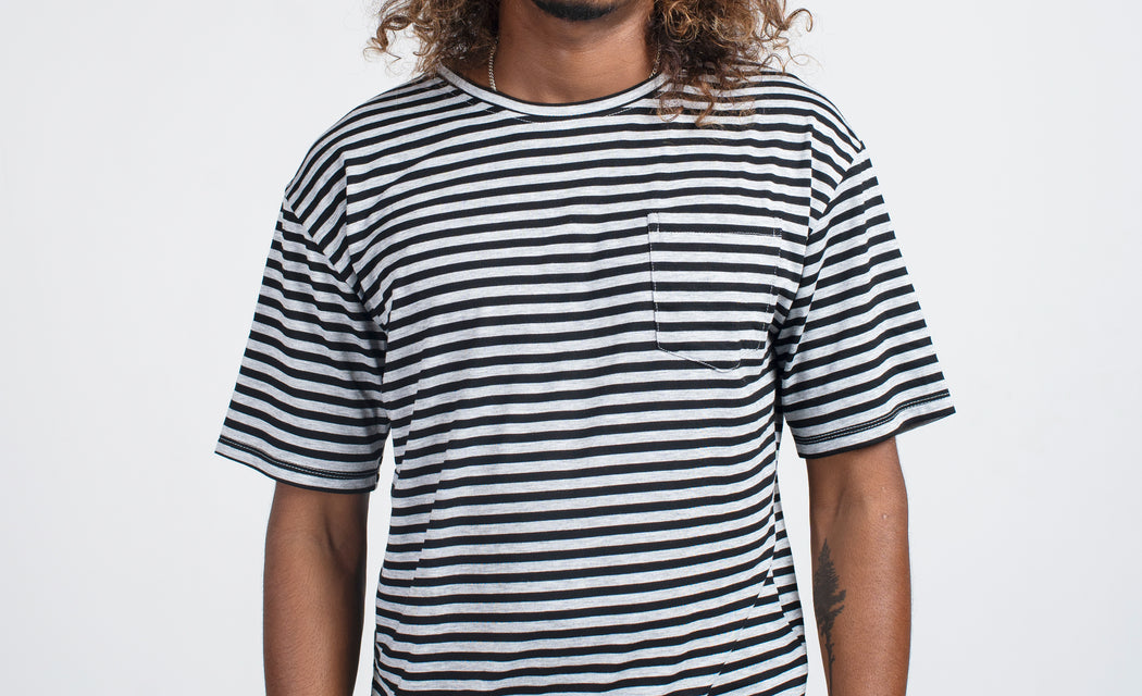 Sailors Stripe Tee - Grey/Black