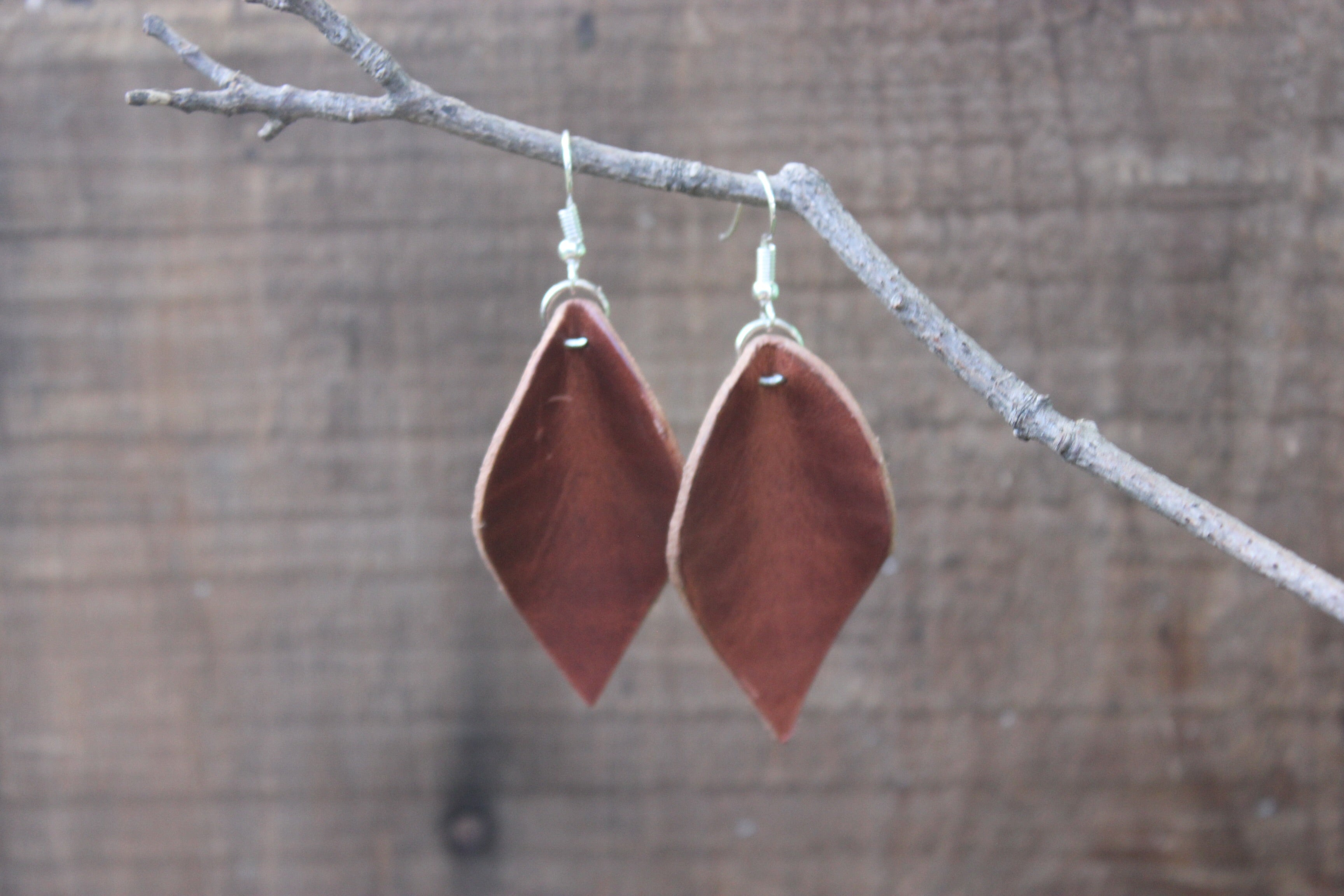 Leaf Earrings // Natural Dublin