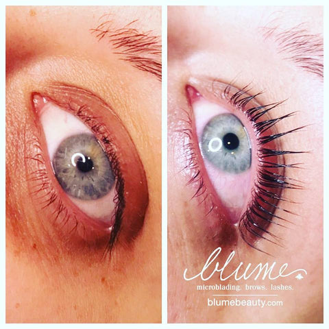 Keratin Lash Lift is the Innovative process of beauty perfection | These Results are by Amy Miller Wieczorek at blumebeauty.com