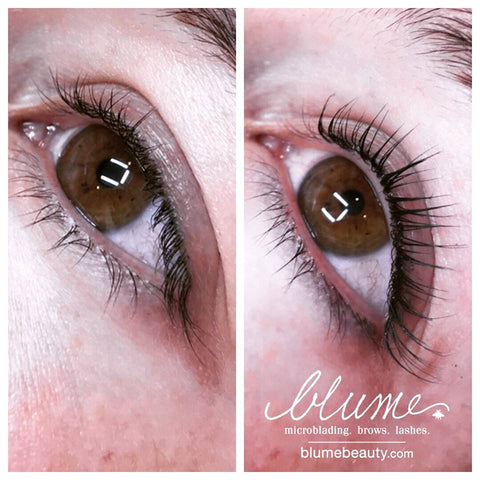 Professional Work by Amy Miller-Wieczorek at BlumeBeauty.com | Keratin Lash Infusion