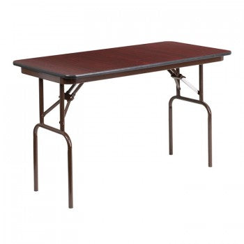 24'' X 48'' RECTANGULAR HIGH PRESSURE MAHOGANY LAMINATE FOLDING BANQUET TABLE [YT-2448-HIGH-WAL-GG]