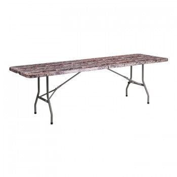30''W X 96''L BI-FOLD CAMOUFLAGE PLASTIC FOLDING TABLE [RB-3096FH-CAM-GG]
