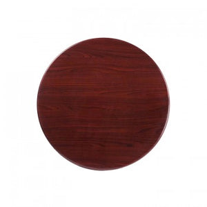 30'' ROUND RESIN MAHOGANY TABLE TOP [TP-MAH-30RD-GG]