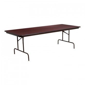 36'' X 96'' RECTANGULAR MAHOGANY MELAMINE LAMINATE FOLDING BANQUET TABLE [YT-3696-MEL-WAL-GG]