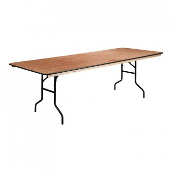36'' X 96'' RECTANGULAR WOOD FOLDING BANQUET TABLE WITH CLEAR COATED FINISHED TOP [XA-3696-P-GG]