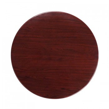 36'' ROUND RESIN MAHOGANY TABLE TOP [TP-MAH-36RD-GG]
