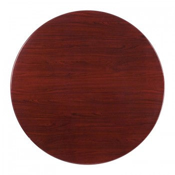 48'' ROUND RESIN MAHOGANY TABLE TOP [TP-MAH-48RD-GG]