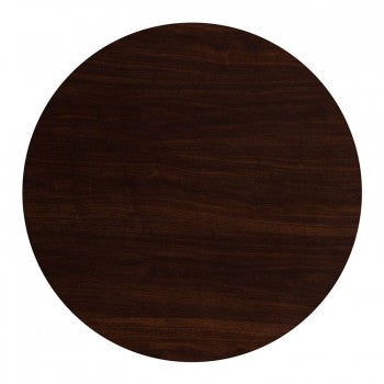 48'' ROUND RESIN WALNUT TABLE TOP [TP-WAL-48RD-GG]