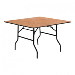 48'' SQUARE WOOD FOLDING BANQUET TABLE [YT-WFFT48-SQ-GG]