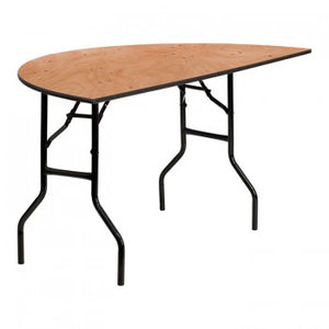 60'' HALF-ROUND WOOD FOLDING BANQUET TABLE [YT-WHRFT60-HF-GG]