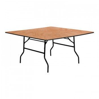 60'' SQUARE WOOD FOLDING BANQUET TABLE [YT-WFFT60-SQ-GG]