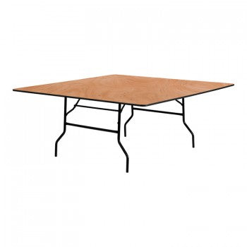 72'' SQUARE WOOD FOLDING BANQUET TABLE [YT-WFFT72-SQ-GG]