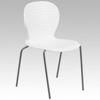 ADRIA SERIES WHITE STACK CHAIR