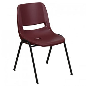 ADRIA SERIES BURGUNDY ERGONOMIC SHELL STACK CHAIR