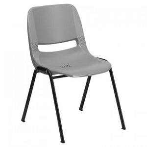 ADRIA SERIES GRAY ERGONOMIC SHELL STACK CHAIR