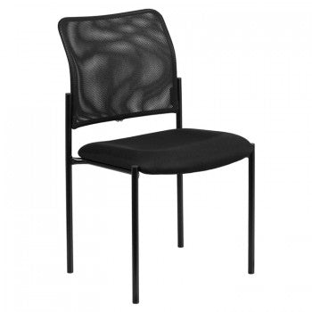 ADRIA SERIES COMFORT BLACK MESH STACKABLE STEEL SIDE CHAIR