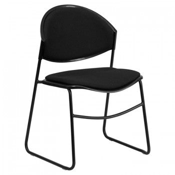 ADRIA SERIES BLACK PADDED STACK CHAIR WITH BLACK FRAME