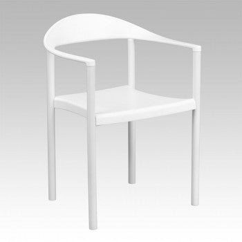 ADRIA SERIES WHITE PLASTIC CAFE STACK CHAIR