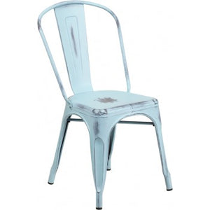 PHOENIX - DISTRESSED DREAM BLUE METAL CHAIR
