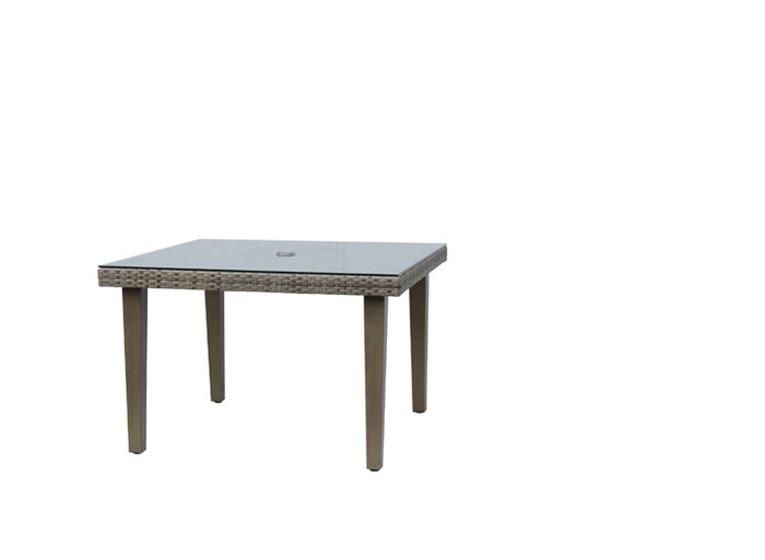 "Tuscany 42"" Sq Dining Table w/Clear Glass"