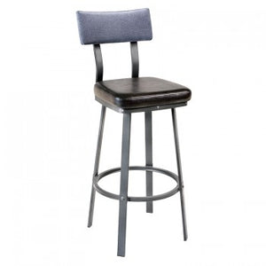 Lager Barstool With Upholstered Back
