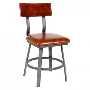 Lager Side Chair With Upholstered Seat